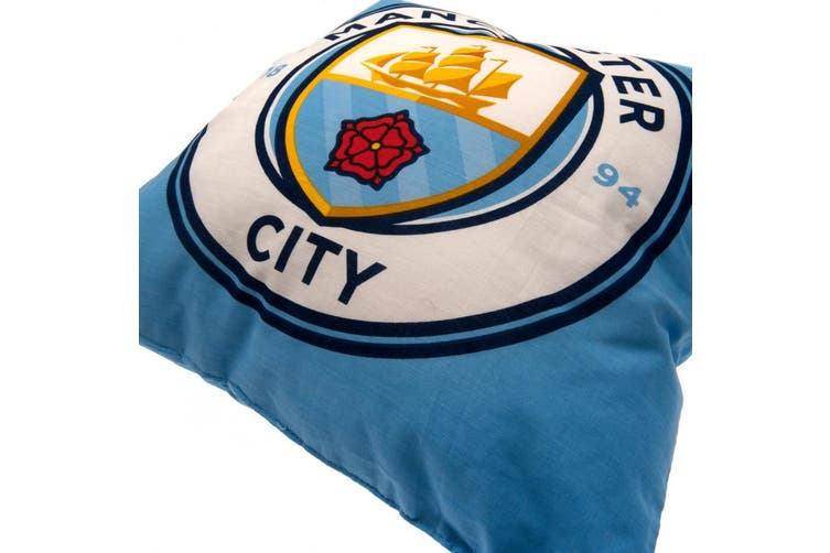 Manchester City FC Cushion (Blue) (One Size)