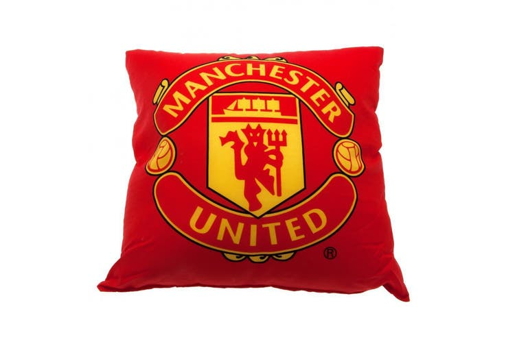 Manchester United FC Cushion (Red) (One Size)