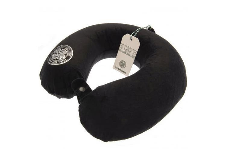 Celtic FC Luxury Travel Pillow (Black) (One Size)