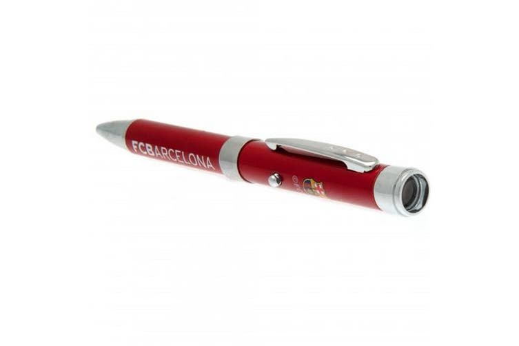 FC Barcelona Metal Projector Pen (Red) (One Size)
