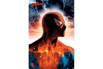 Spider-Man Poster (Red/Blue) (One Size)