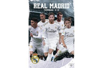 Real Madrid FC Players Poster (Grey/White) (One Size)