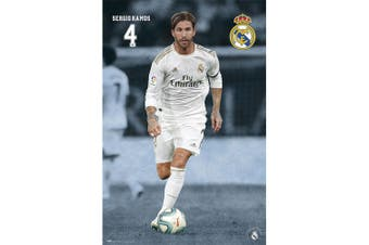 Real Madrid FC Ramos Poster (Grey/White) (One Size)
