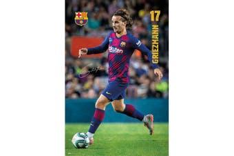 FC Barcelona Griezmann Poster (Multicoloured) (One Size)