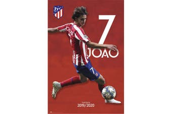 Atletico Madrid FC Joao Felix Atletico Poster (Red) (One Size)