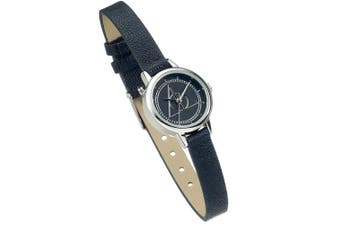 Harry Potter Womens/Ladies Deathly Hallows Faux Leather Watch (Black) (One Size)