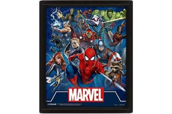 Marvel Icons Framed 3D Picture (Blue) (One Size)