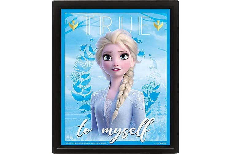 Frozen 2 Framed 3D Holographic Picture (Blue/Pink) (One Size)