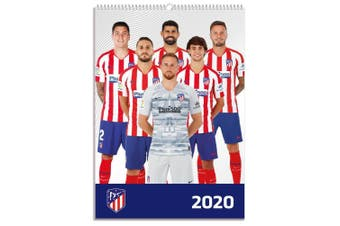 Atletico Madrid FC 2020 Calendar (White/Blue/Red) (One Size)