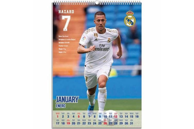 Real Madrid FC 2020 Calendar (White) (One Size)