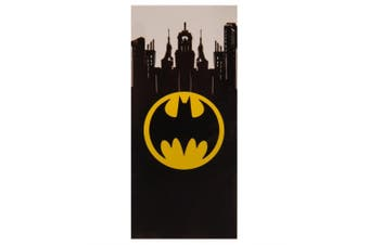 Batman Official Beach Towel (Black/Yellow) (One Size)