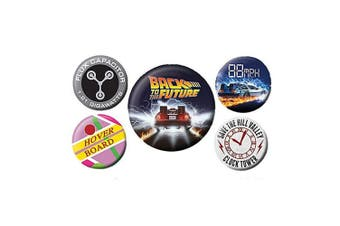Back To The Future Button Badge Set (5 Pieces) (Multicoloured) (One Size)