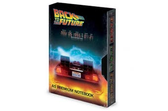Back To The Future VHS Style Premium Notebook (Black) (One Size)