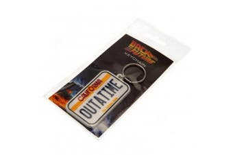 Back To The Future License Plate Keyring (White) (One Size)