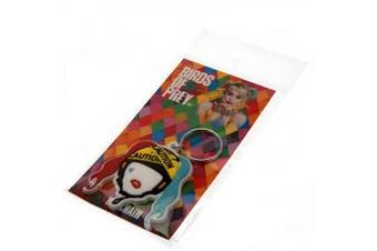 Birds Of Prey Harley Quinn Outline Keyring (Multicoloured) (One Size)