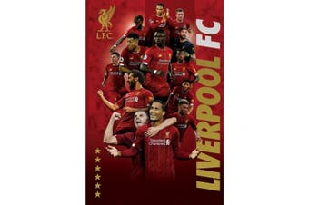 Liverpool FC 38 Players Poster (Red) (One Size)