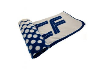 Real Madrid FC Official FD Fleece Blanket (Blue/White) (One Size)