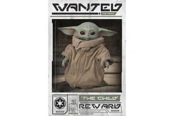 Star Wars The Mandalorian Wanted The Child 228 Poster (White/Brown/Green) (One Size)