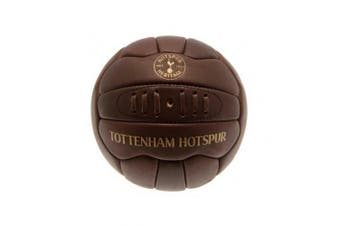 Tottenham Hotspur FC Retro Heritage Mini Leather Ball (Brown) (One Size)