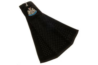 Newcastle United FC Official Tri-Fold Towel (Black) (One Size)