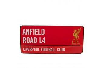 Liverpool FC Street Sign (Red/White) (One Size)