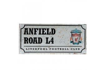 Liverpool FC Street Sign (White/Black) (One Size)