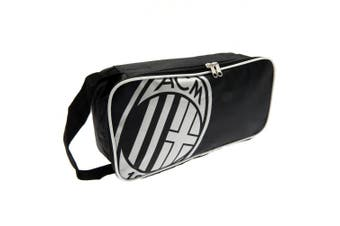 AC Milan Unisex Adult Football Boot Bag (Black/White) (One Size)