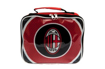 AC Milan Lunch Bag (Black/Red) (24 x 20 x 7cm)