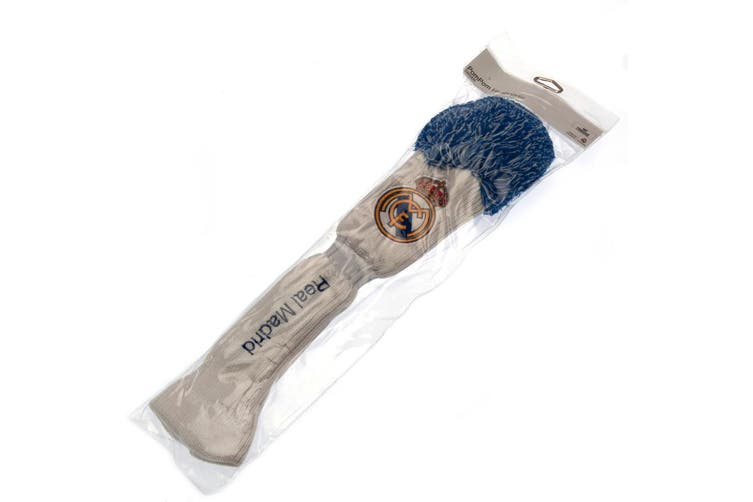 Real Madrid FC Official Driver Pompom Headcover (White/Blue) (One Size)