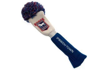 Ipswich Town FC Official Driver Pompom Headcover (White/Blue) (One Size)