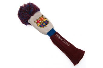 FC Barcelona Official Fairway Pompom Headcover (White/Blue/Burgundy) (One Size)
