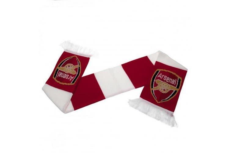 Arsenal FC Bar Scarf (Red/White) (132 x 19cm)