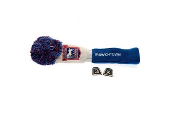 Ipswich Town FC Official Fairway Pompom Headcover (White/Blue) (One Size)