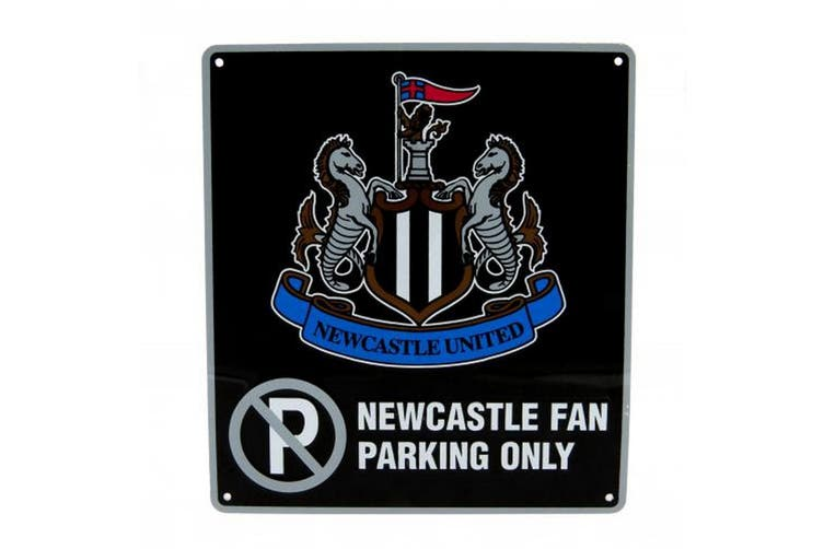 Newcastle United FC Official No Parking Sign (Black) (One Size)