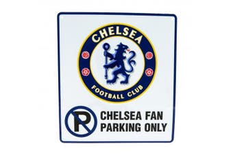 Chelsea FC Official No Parking Sign (White/Blue) (One Size)