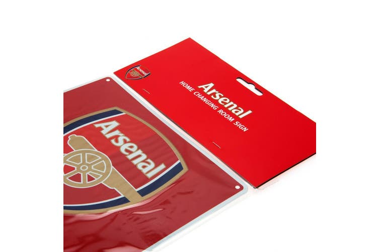 Arsenal FC Official Home Changing Room Sign (Red) (One Size)