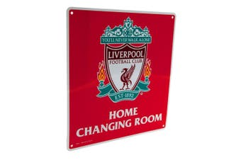 Liverpool FC Official Home Changing Room Sign (Red) (One Size)