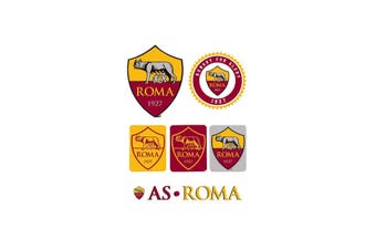 AS Roma Sticker Set (Yellow/Red) (One Size)