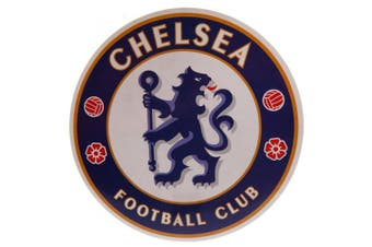 Chelsea FC Large Crest Sticker (Blue) (One Size)
