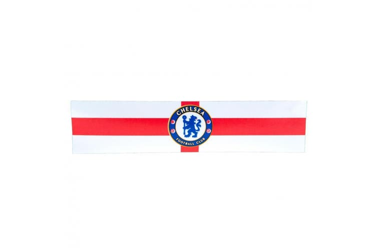 Chelsea FC St George Window Sticker (White) (One Size)
