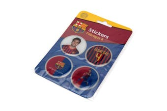 FC Barcelona Fabregas 3D Stickers (Pack Of 4) (Multicoloured) (One Size)