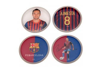 FC Barcelona Iniesta 3D Stickers (Pack Of 4) (Multicoloured) (One Size)