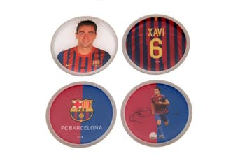 FC Barcelona Xavi 3D Stickers (Pack Of 4) (Multicoloured) (One Size)