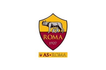 AS Roma Crest Sticker (Yellow/Red) (One Size)