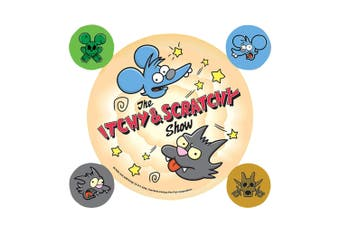 The Simpsons Itchy And Scratchy Stickers (Multi-color) (One Size)