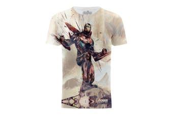 Avengers Infinity War Iron Man Battle Stance Titan Fight Graphic T-Shirt (Multicoloured)