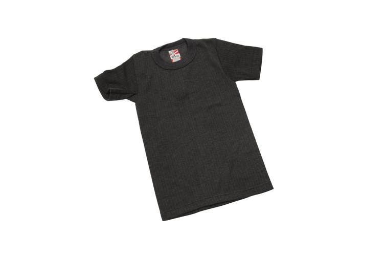 Boys Thermal Clothing Short Sleeved T Shirt Polyviscose Range (British Made) (Charcoal) (Chest: 18-20inch (Age 2-3))