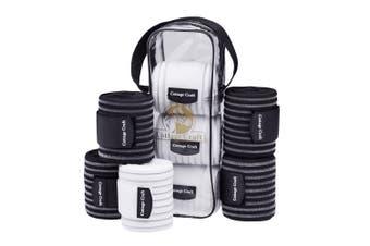 Cottage Craft Elastic/Fleece Combo Bandages (Pack Of 4) (White) (One Size)