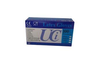 Unisex Adults Gloves Latex Examination Pack Of 100 (May Vary) (Medium)