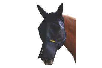 Absorbine UltraShield Fly Mask with Ears and Removable Nose (With Ears) (Full)